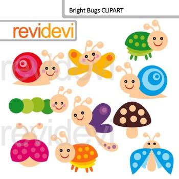 Clip Art Bright Bugs
