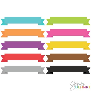 Clipart - Banner Ribbons