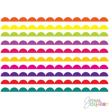 Borders - Bright Scalloped Clipart