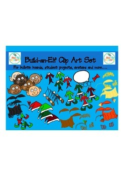 Clip Art: Build An Elf Clip Art Set