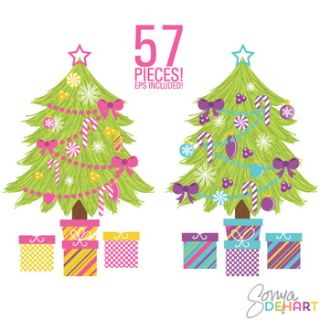 Clipart - Build Your Own Christmas Tree