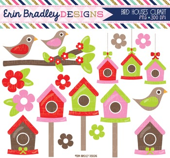 Clip Art Bundle - Christmas Bird Houses