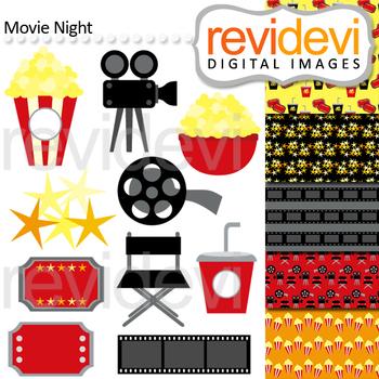Clip Art Bundle Movie Night