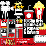 Clip Art Movie Night - Colaboration Pack