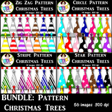 Clip Art ● Bundle: Rainbow Pattern Christmas Trees ● Products for TpT Sellers