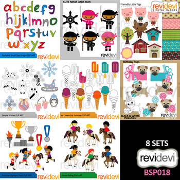 Clip Art Bundle Special / Collection 18 by Revidevi