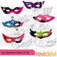 Clip Art Bundle Superhero Masks and Candles