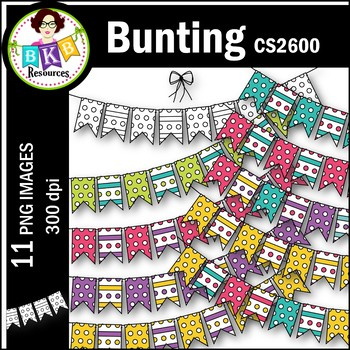 Clip Art ● Bunting CS2600● Clip Art for Commercial Use