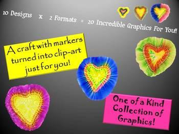 Clip Art: Bursting Hearts