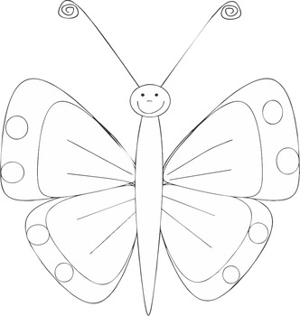 Butterflies for personal and commercial use - B&W version included!