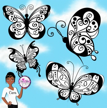 Clip Art~ Butterfly Design Kit