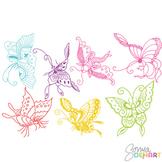 Clipart - Butterfly Set Butterflies Clip art FREEBIE