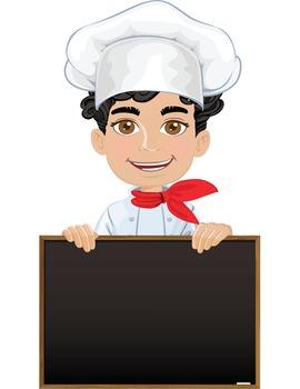 Clip Art - CHEF BRAYDON - male, boy, student, digital graphics - cooking