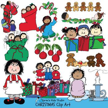 clip art christmas kids (karen's kids clip art) by karen's kids school room