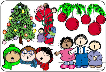 Clip Art CHRISTMAS KIDS and NEW YEARS