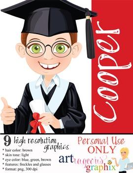 Clip Art - COOPER - male, boy, student, digital graphics -