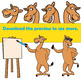 Clip Art Camel | Clipart Dromedary in Cartoon Style with Signs