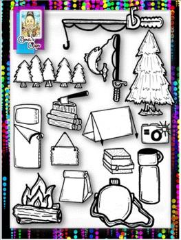 Clip Art~ Camping Fun!