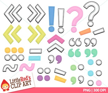 Clip Art: Candy Colors Pastel Lowercase Letters with Punctuation Clipart