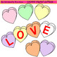 Clip Art Candy Heart Letters