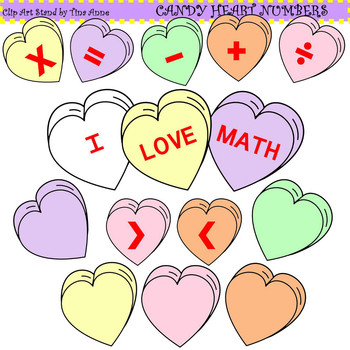 Clip Art Candy Heart Numbers