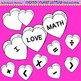Clip Art Candy Heart Numbers black and white