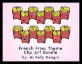 Clip Art Canon - 14 French Fries All American Themed Emoji Clip Art Files Bundle