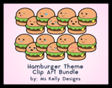 Clip Art Canon - 14 Hamburger All American Themed Emoji Clip Art Files Bundle