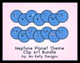 Clip Art Canon - 14 Neptune Planet Themed Emoji Clip Art Files Bundle
