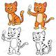 Clip Art Cat and Fish | Clipart Set
