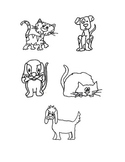 Clip Art, Cats and Dogs, Black & White, Follow Me Some Are Free!