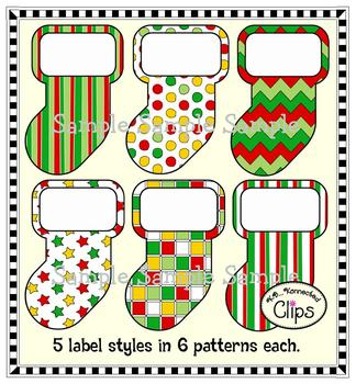 Clip Art ~ Celebrate the Season Papers and Labels (Freebie in preview!)