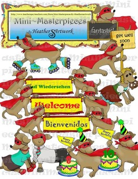 Clip Art: Celebrations, Comings, and Goings Dachshund Dogs