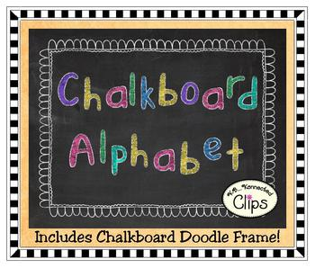Clip Art - Chalkboard Alphabet (upper & lower case)