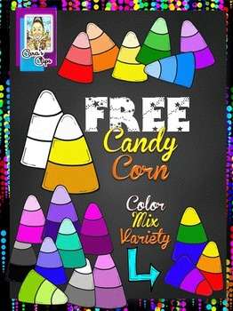 FREE Clip Art~ Halloween Candy Corn