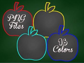 Clip Art~ Chalkboard Apples