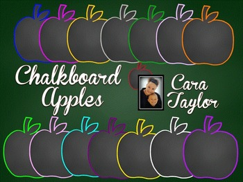 Clip Art~ Chalkboard Apples