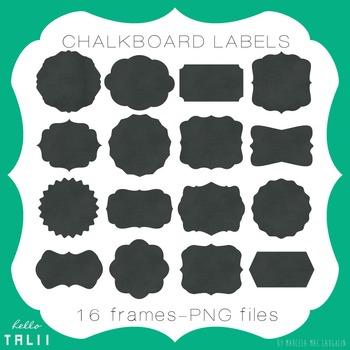Clip Art: Chalkboard Labels