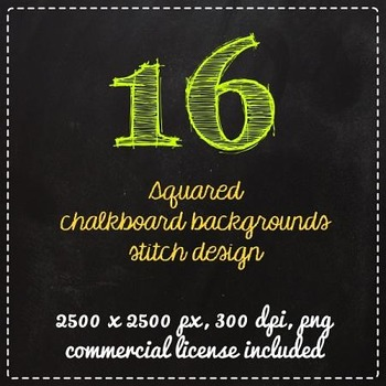 Clip Art Chalkboard squares background labels Clipart - commercial license