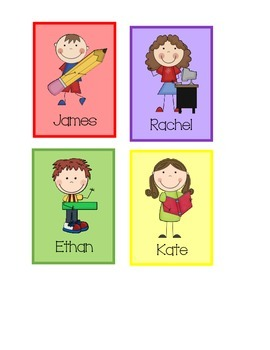 Clip Art Character Cards