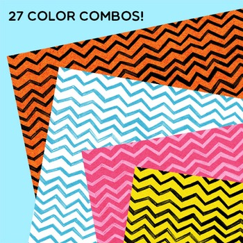 Clip Art: Charming Chevrons Digital Papers for Personal and Commercial Use