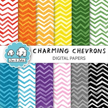 Clip Art: Charming Chevrons Digital Papers for Personal an