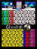 Clip Art~  Cheetah Digital Paper Collection
