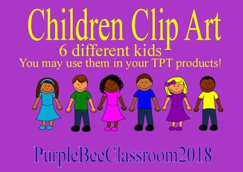 Clip Art-Children Clip Art-6 different kids