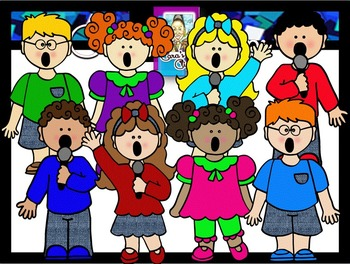 Clip Art~ Children's Choir by Cara's Creative Playground | TpT