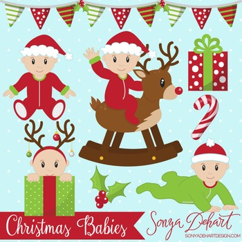 Clip Art: Christmas Baby Boys