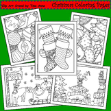 Clip Art Christmas Coloring Pages