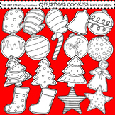 Clip Art Christmas Cookies black and white