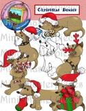 Clip Art: Christmas Dachshund Dogs