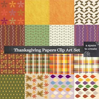 Clip Art: Thanksgiving Digital Paper